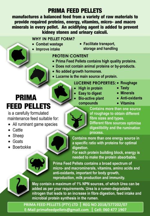 Prima Feed Pellets - Lusern Pille , Wilds Pille , Vee voer