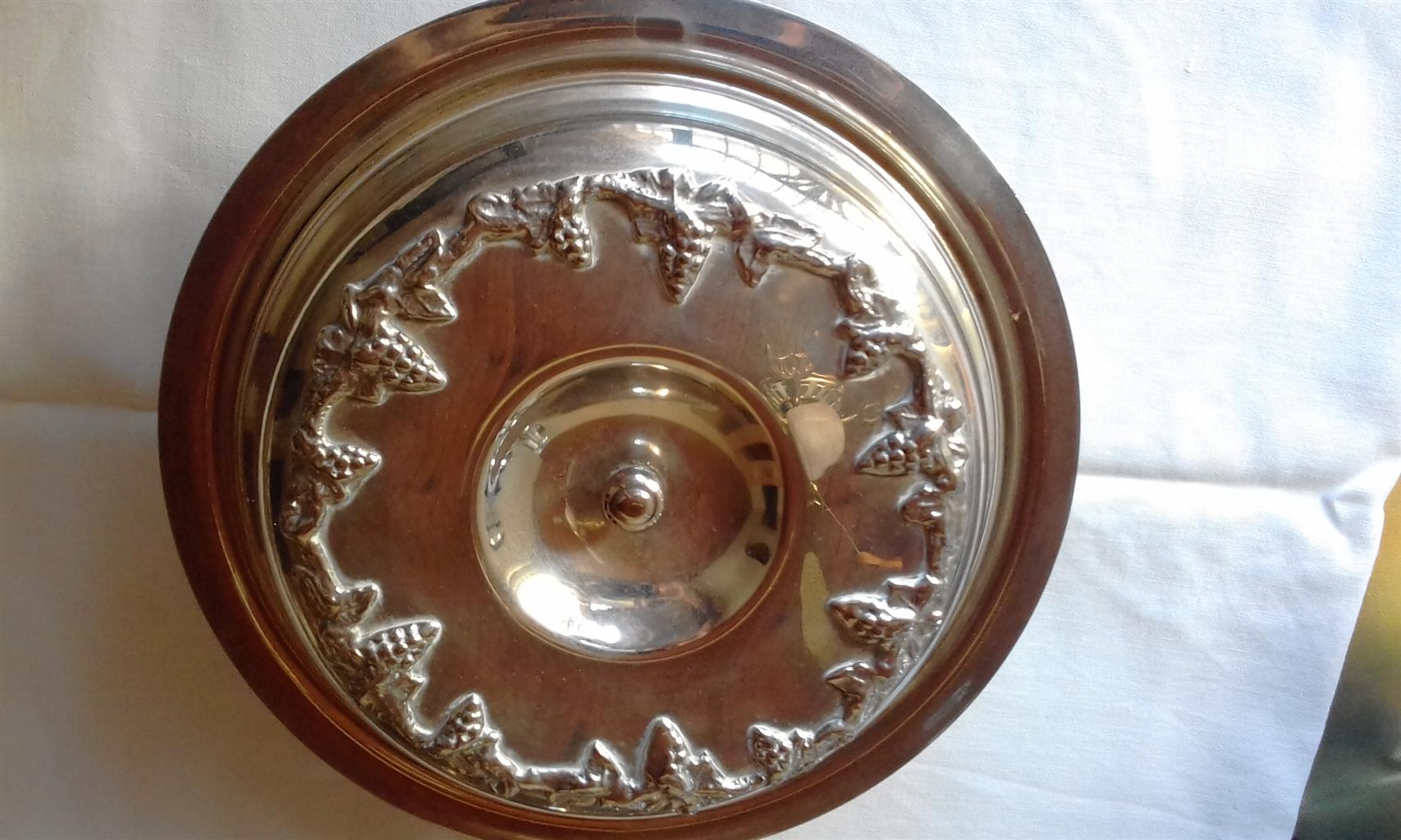 SOLID SILVER 3-DIVISION VEGETABLE DISH