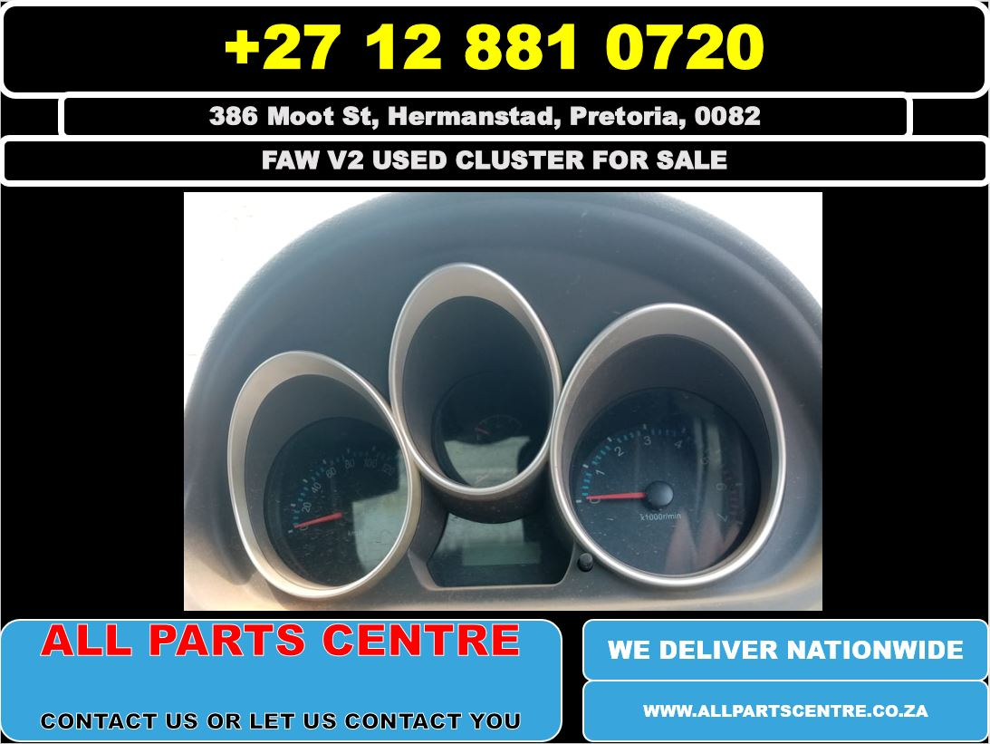 Faw v2 used cluster for sale