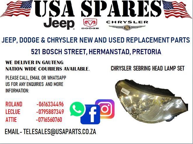CHRYSLER SEBRING HEAD LAMP (FOR SALE)