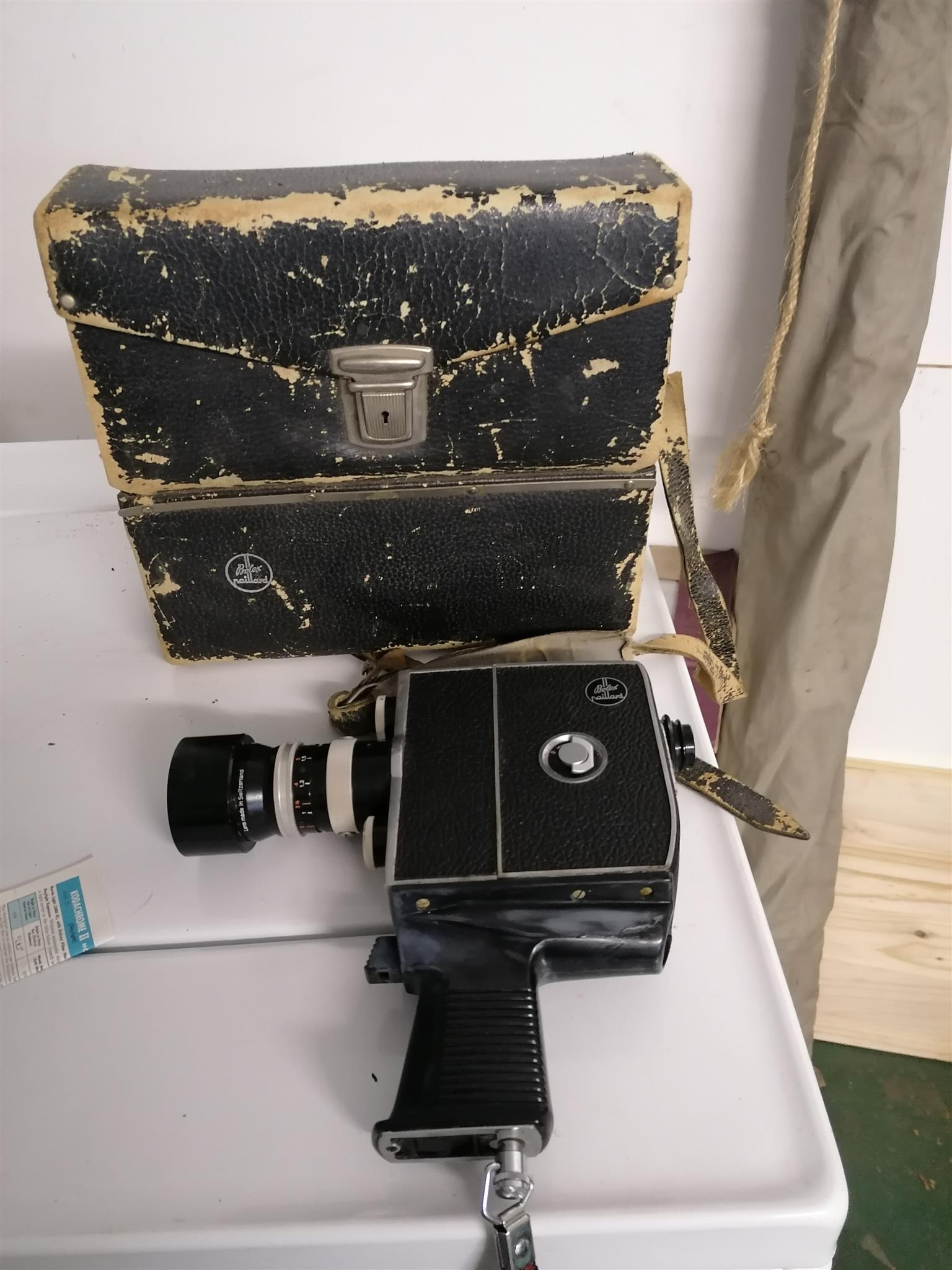Vintage film camera and projector