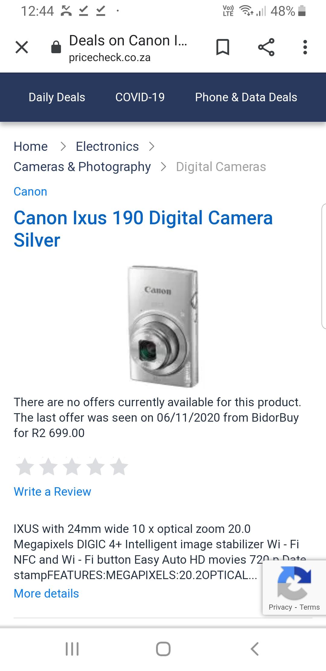 Conon Digital Camera