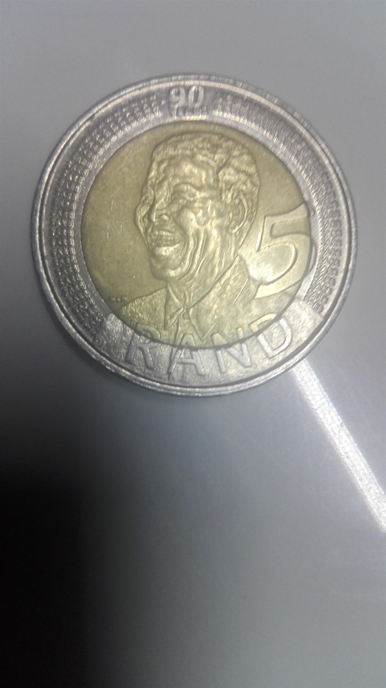 2008 Mandela coin 90th birthday