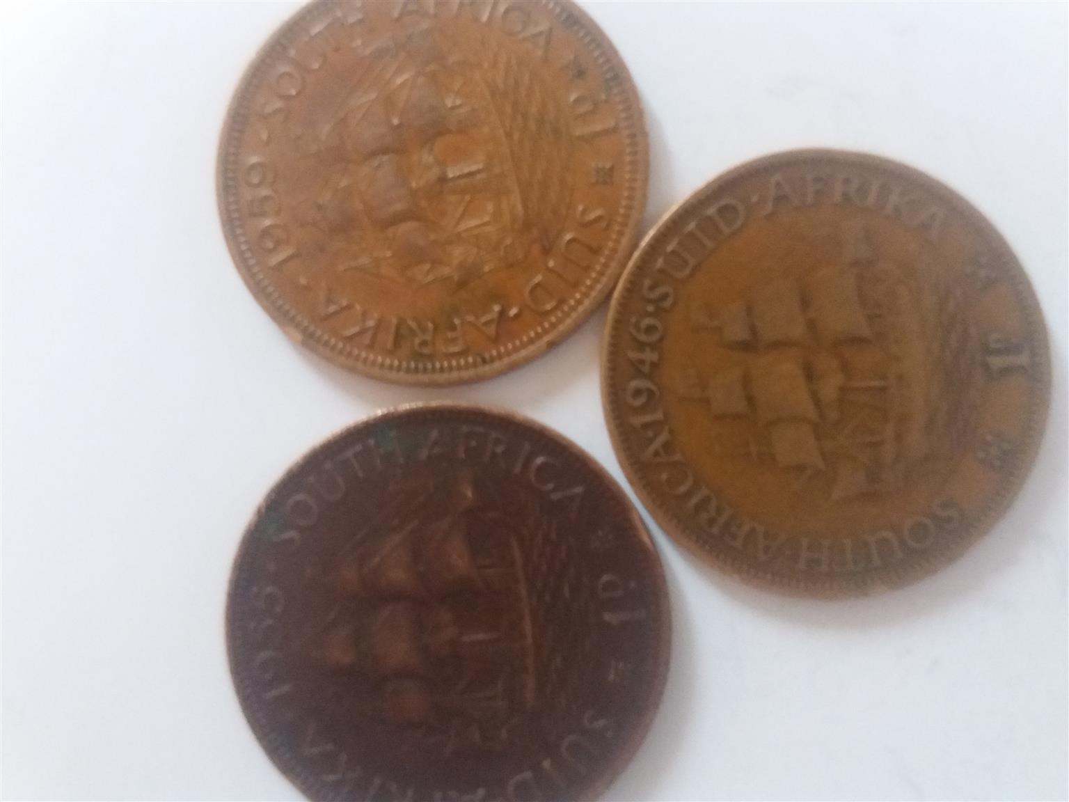 1942/1955/1959 SA 1d Pennies   Junk Mail