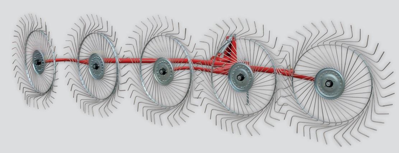 Agromont Finger Wheel Rake (Mounted Type)