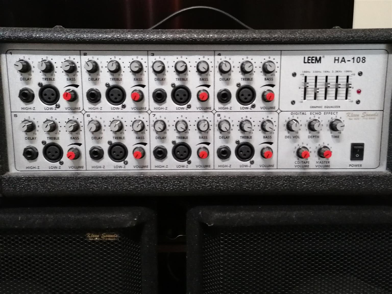 Amp Speakers Mic Guitar