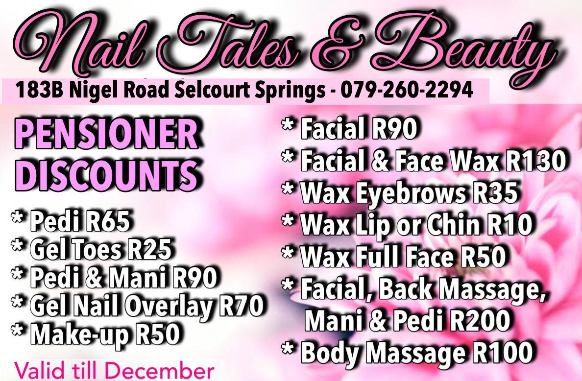 Nail Tales & Beauty's Pensioner Discounts