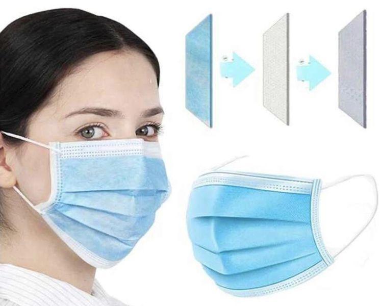 Disposabale 3PLY Face Masks - EN ISO13485 2016 Certified