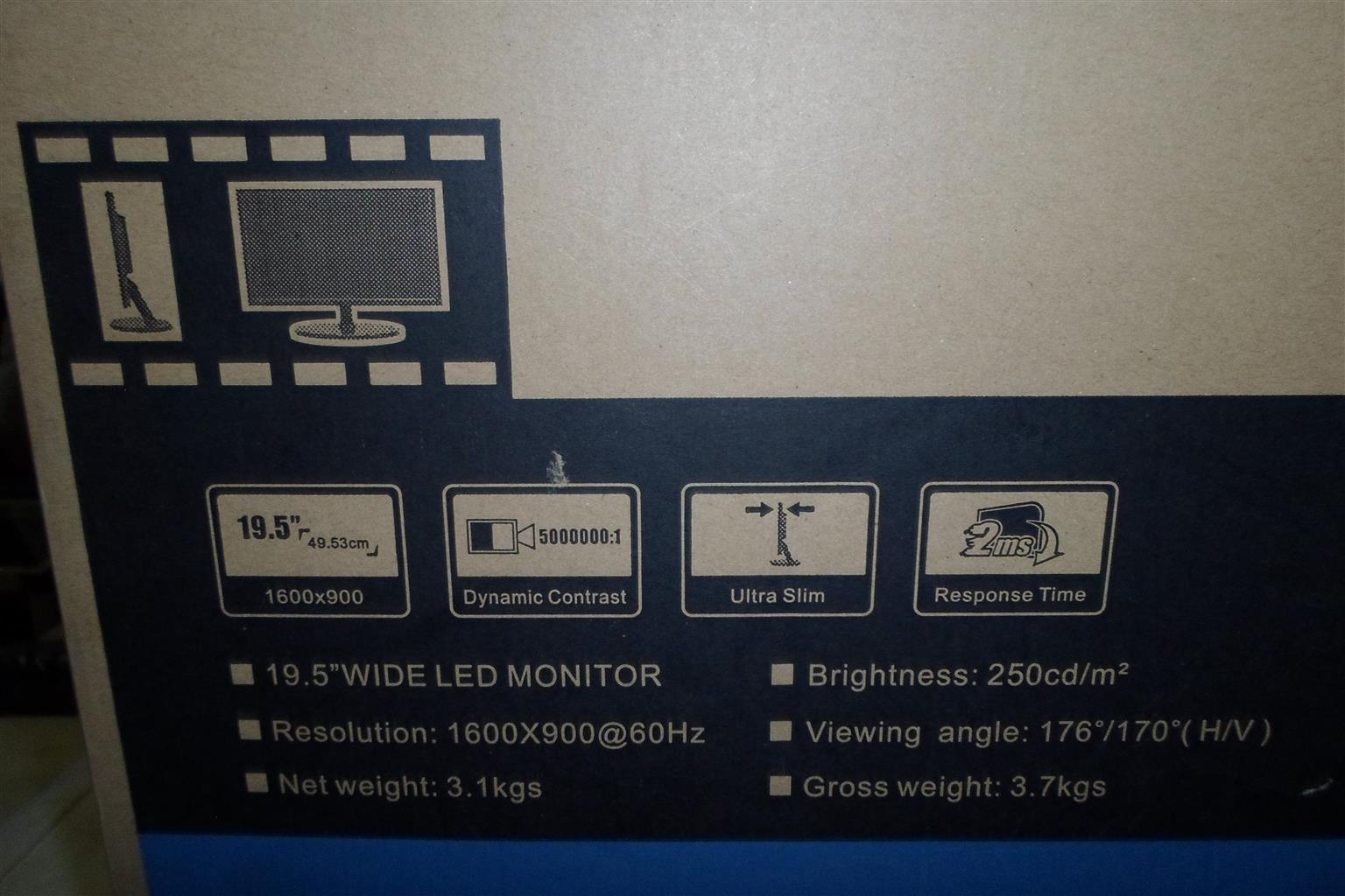 """19.5"""" Wide LED Mecer Monitor"""
