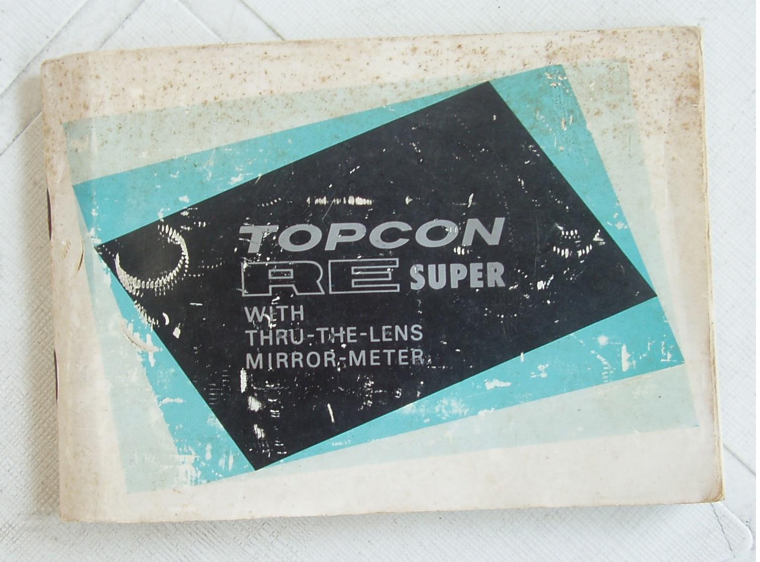 TOPCON RE Super  film camera - Manual Only - Vintage Manual