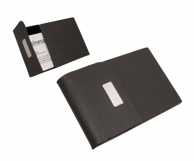 Black pu flip top business card holder on special junk mail black pu flip top business card holder on special reheart Image collections