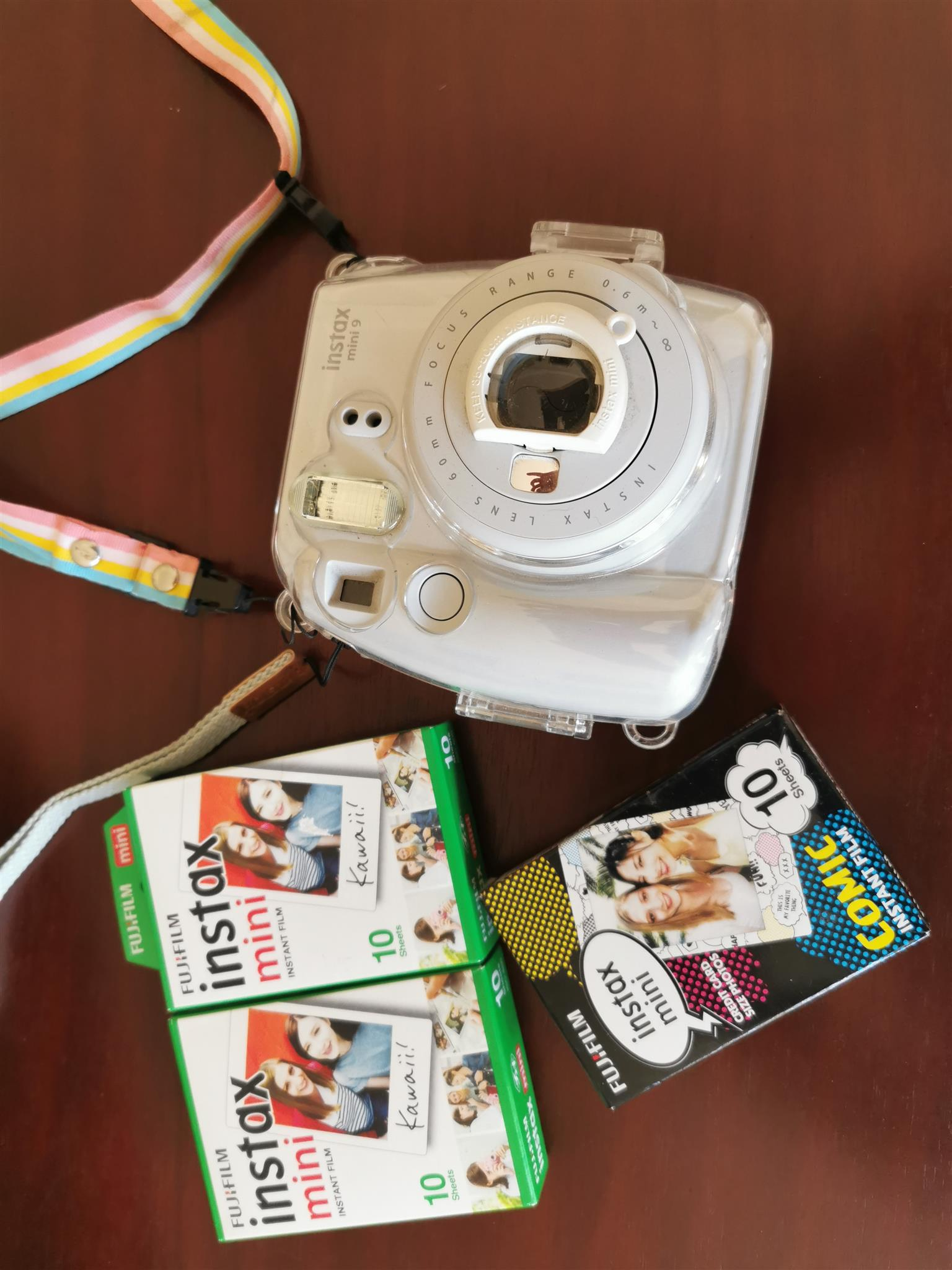 Instax Mini 9 with cover and film