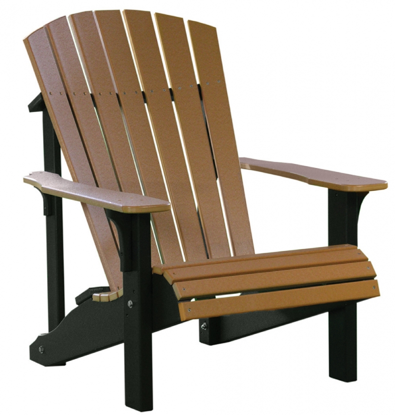Amish solid pine wood deck chair set of 4