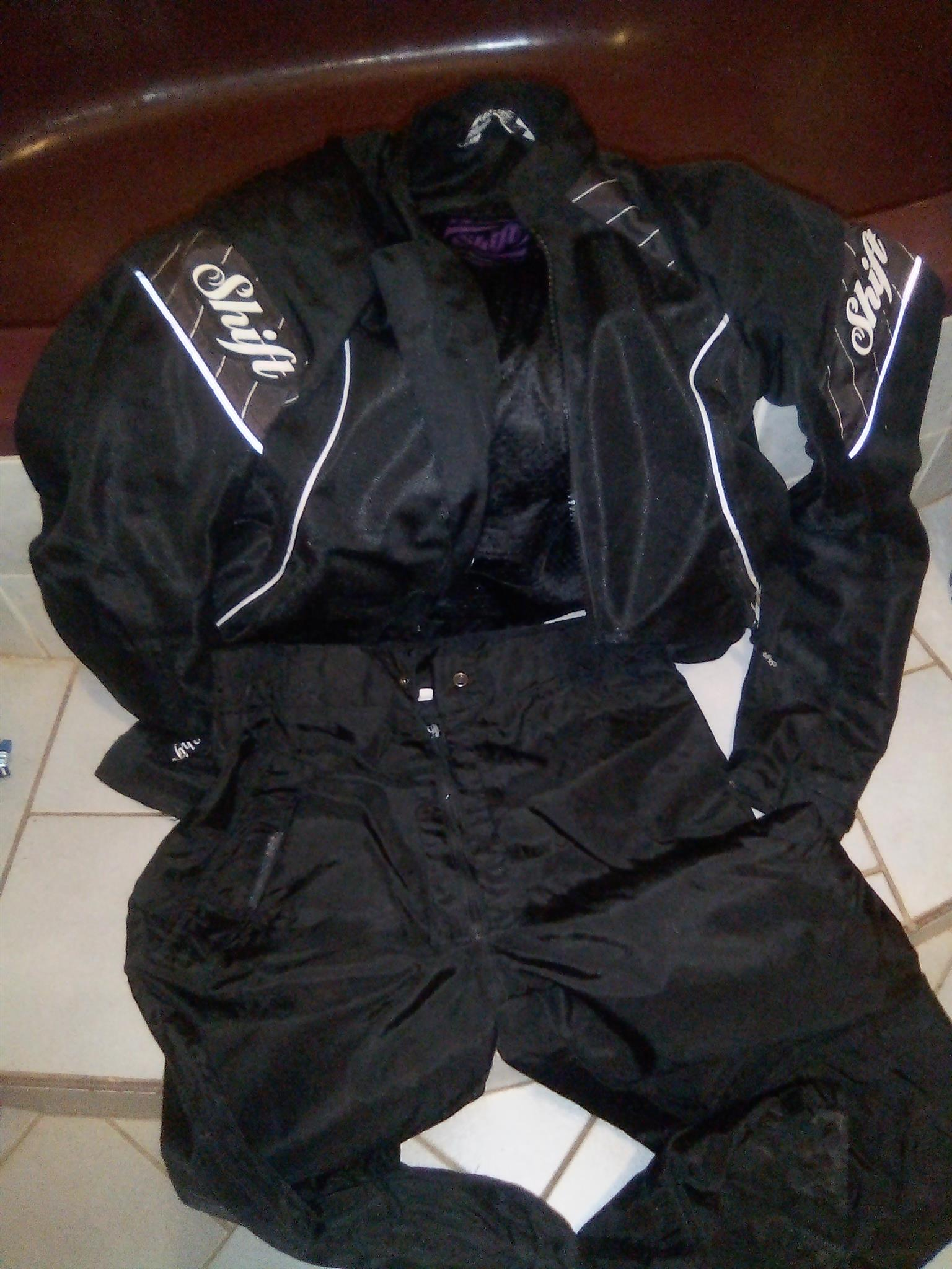 Bike jacket and pants and boots