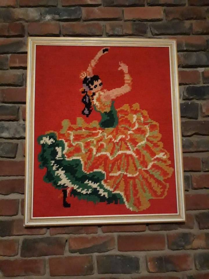 Dancing woman framed painting