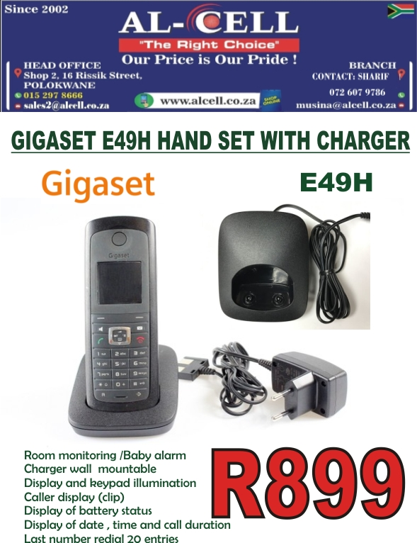 Gigaset E49H Hand Set With Charger