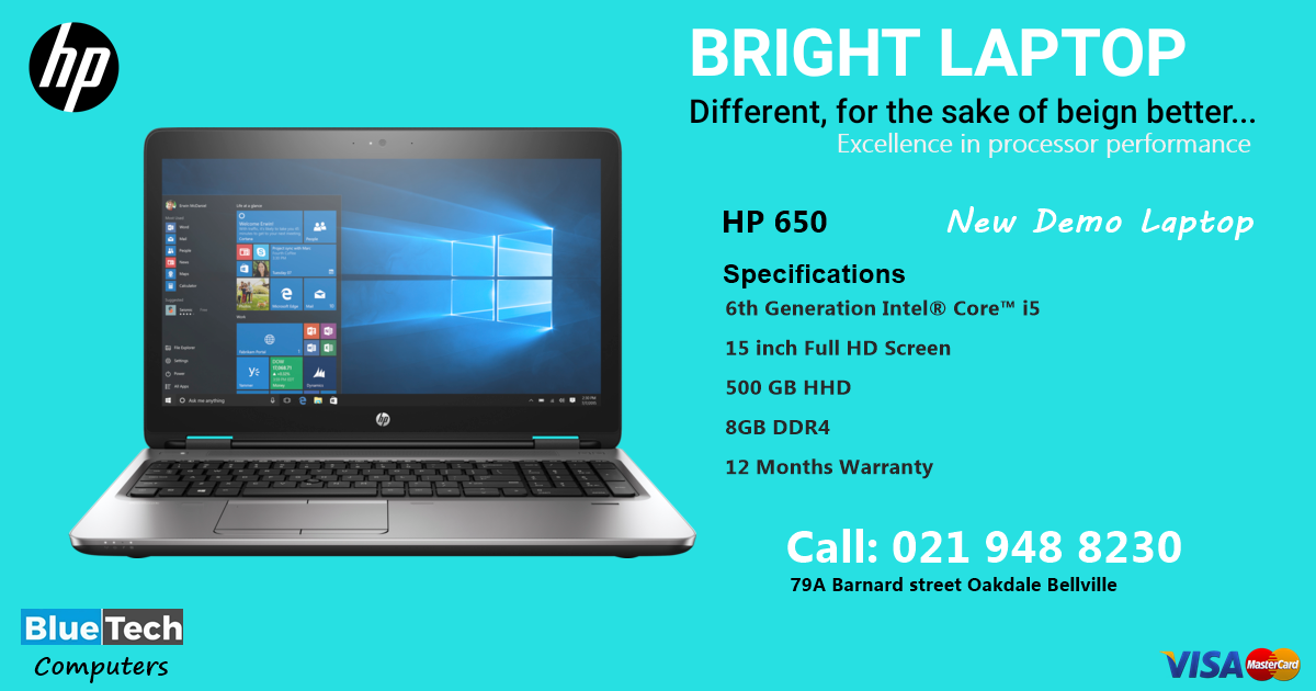 HP ProBook 650 | Latest Core i5 - 8GB ram - Windows 10 - 1 Year Guarantee