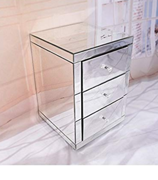 Set of 2(3 draw mirror pedestals for sale brand New in boxes