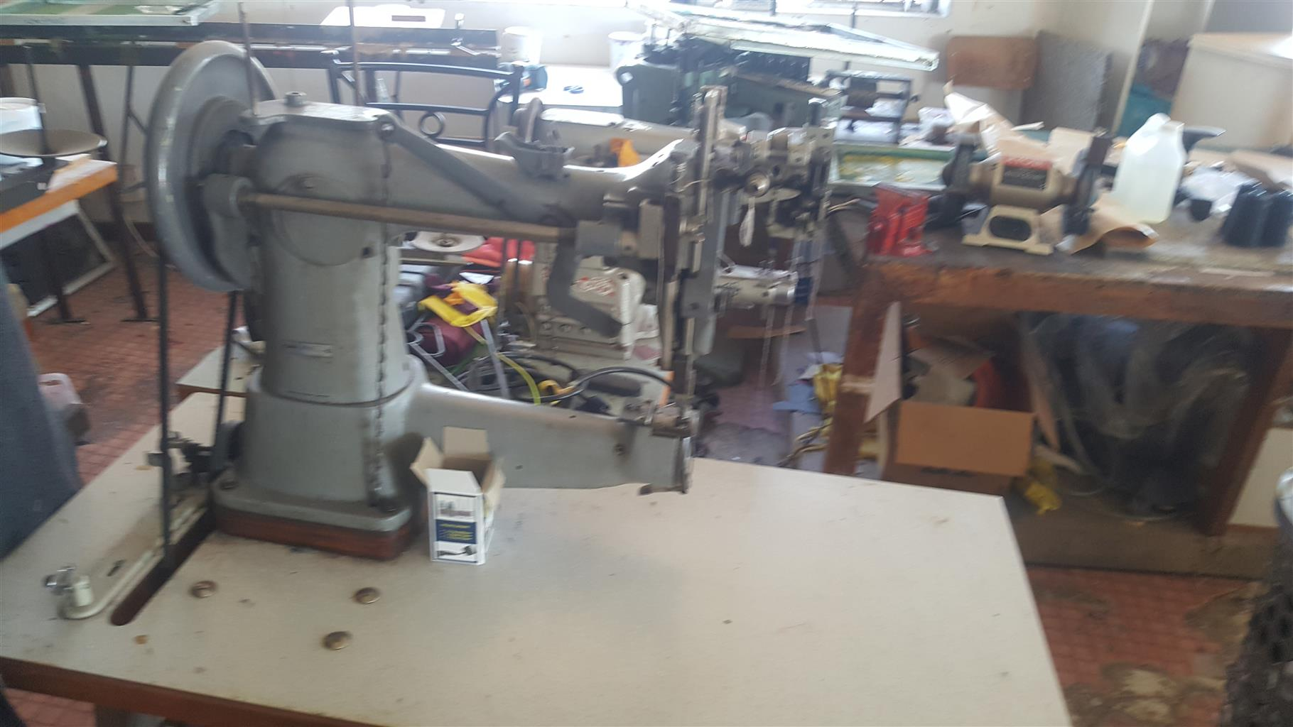 Complete Machinery for making of shoes, bags and tents.