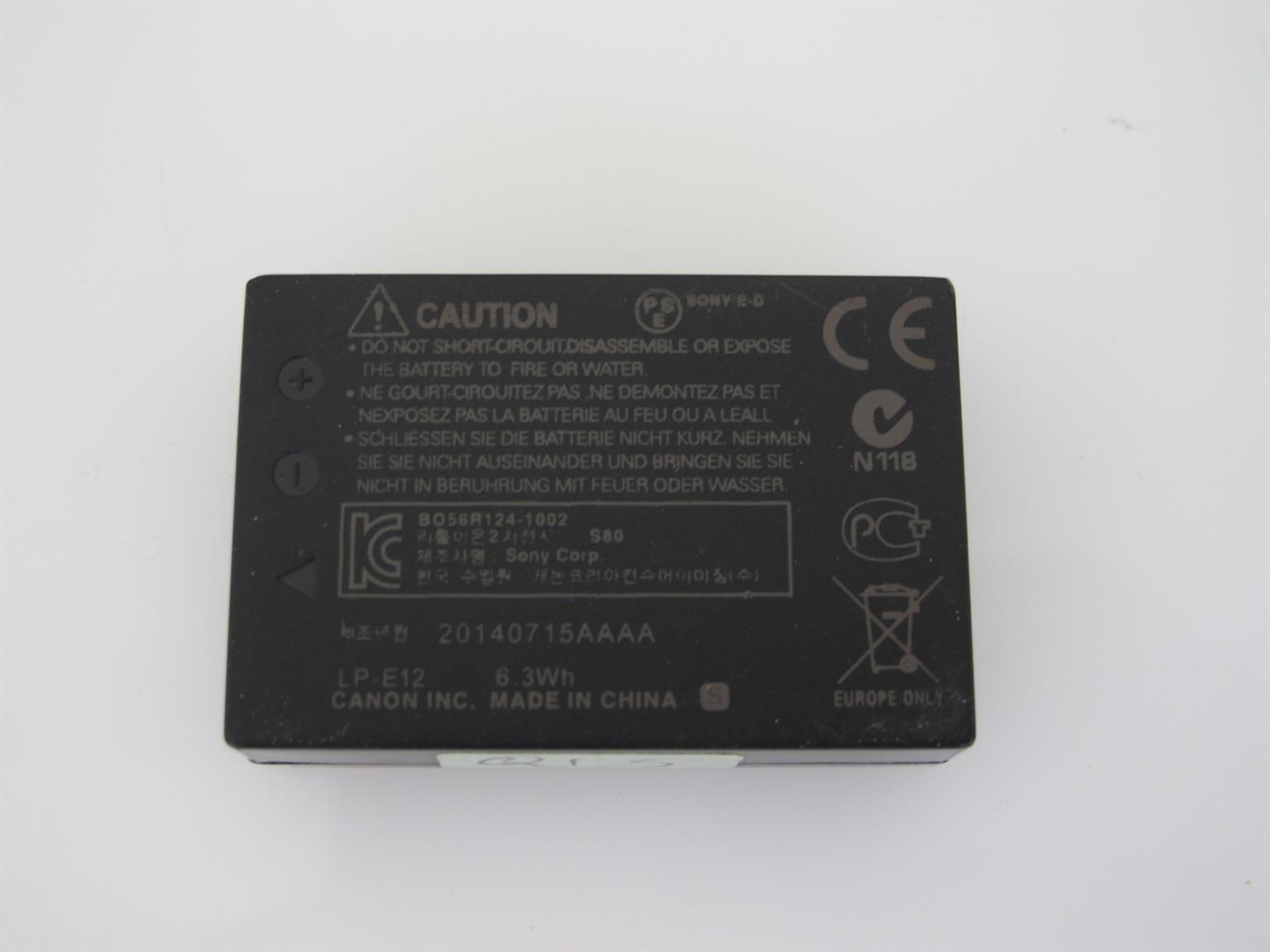 Canon LP-E12 Battery Pack Original