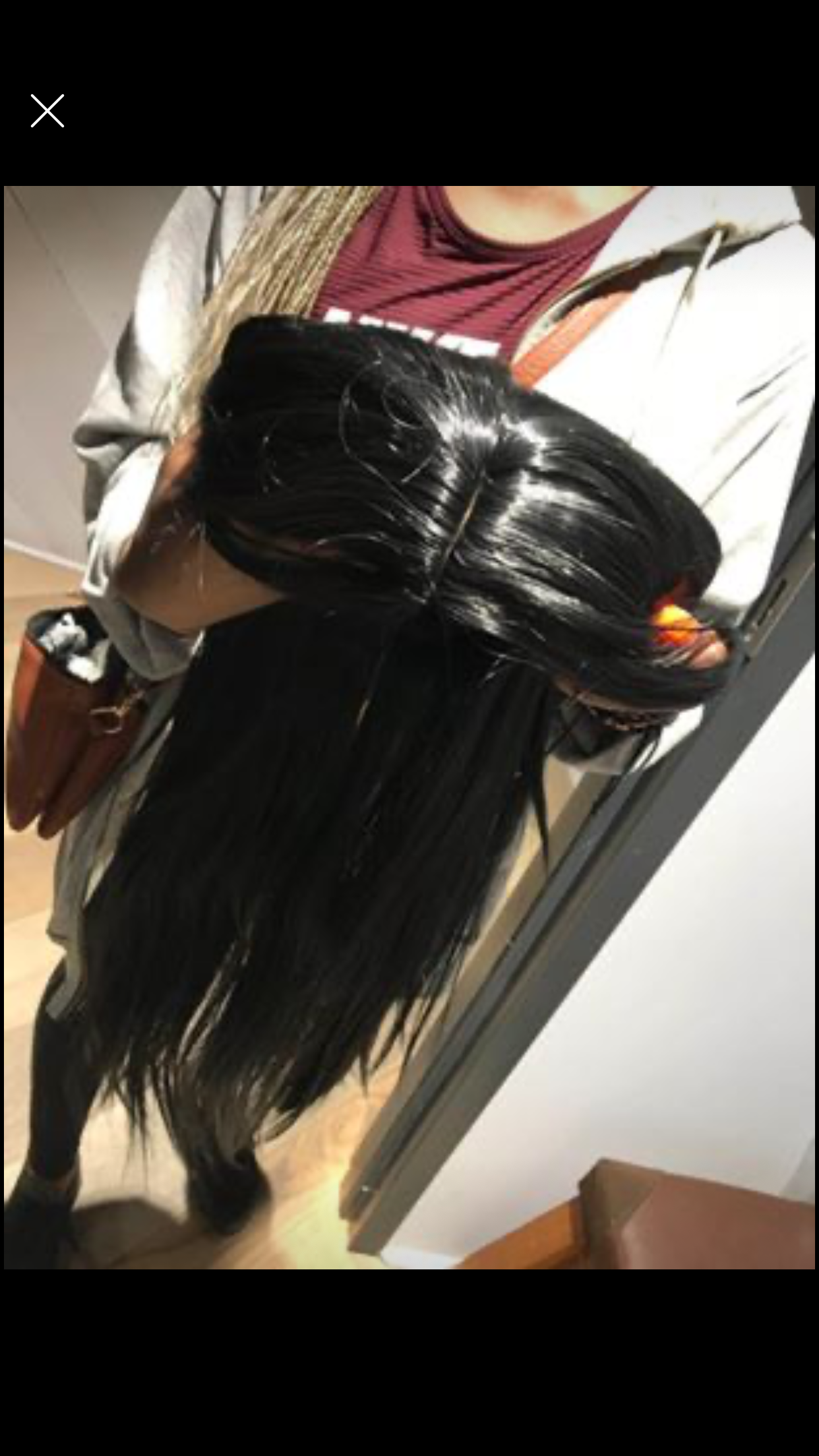 Synthetic blend wig