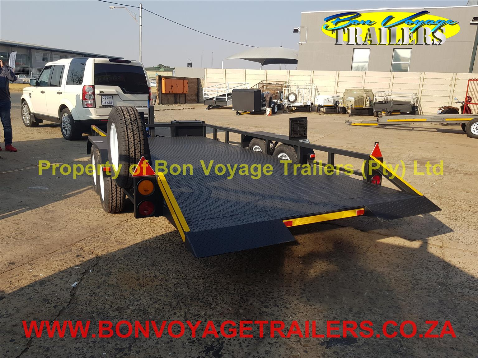 PLATE FLOOR CAR TRAILER FOR SALE