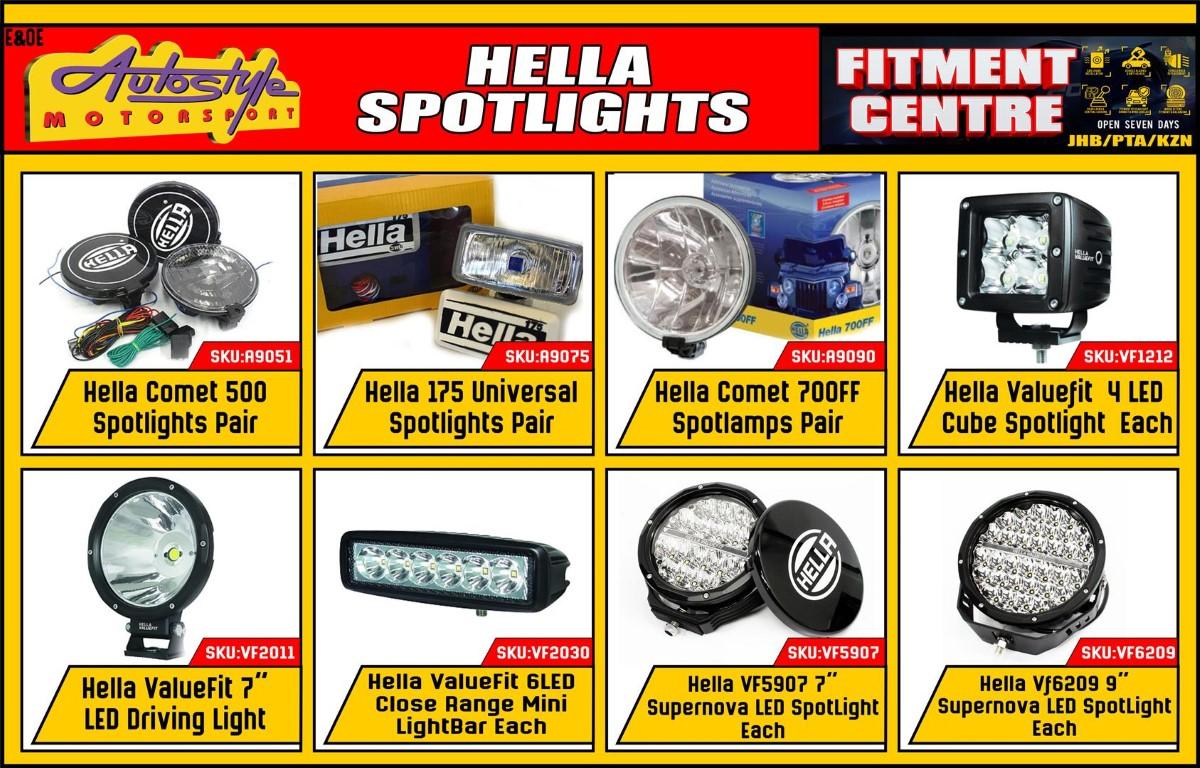 Hella A9051 Comet 500 Spotlights