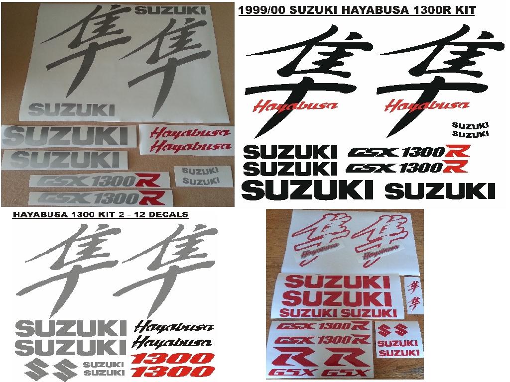 1999 Suzuki Hayabusa 1300 decals stickers vinyl cut graphics kits