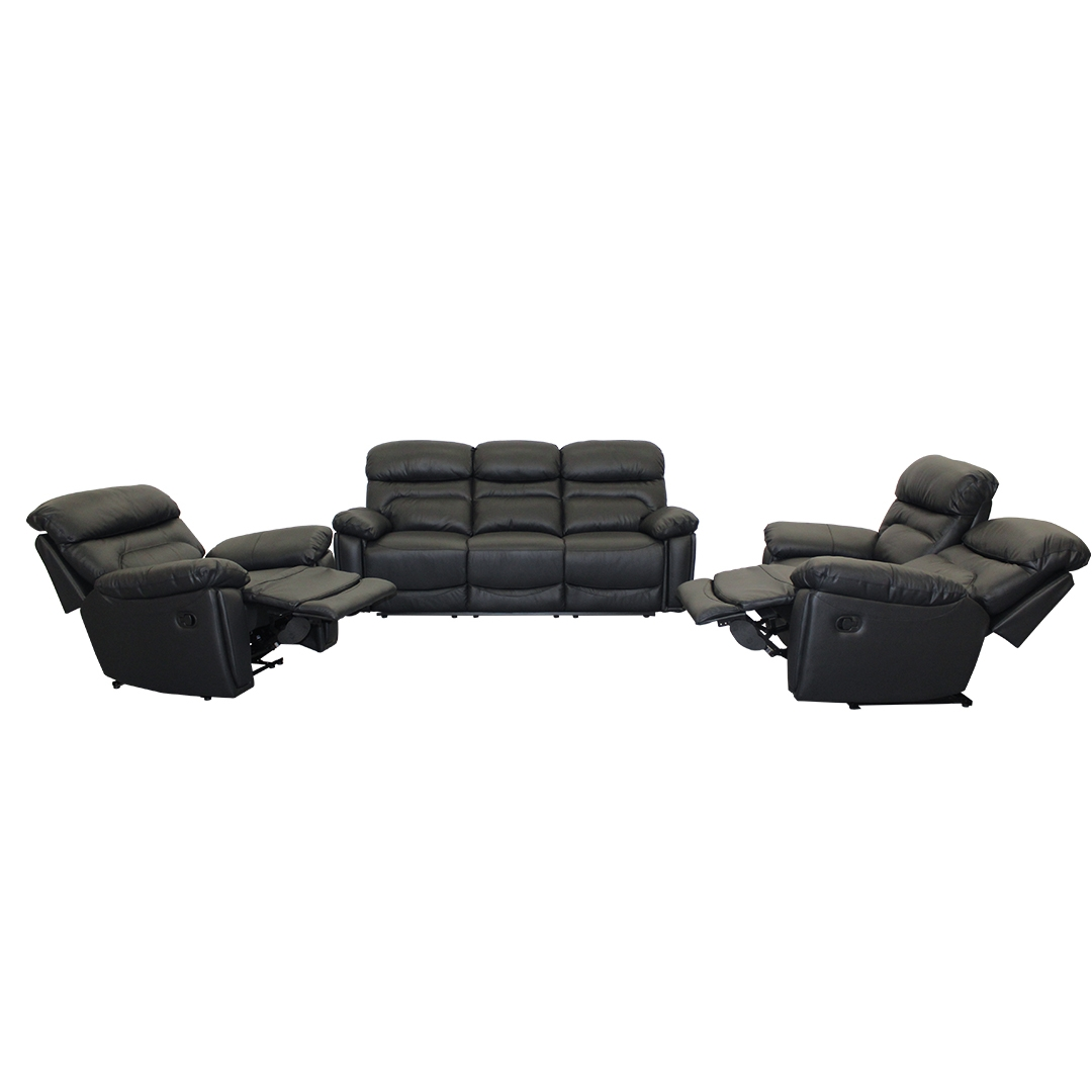 Oxford Genuine Leather Uppers Recliner Lounge Suite