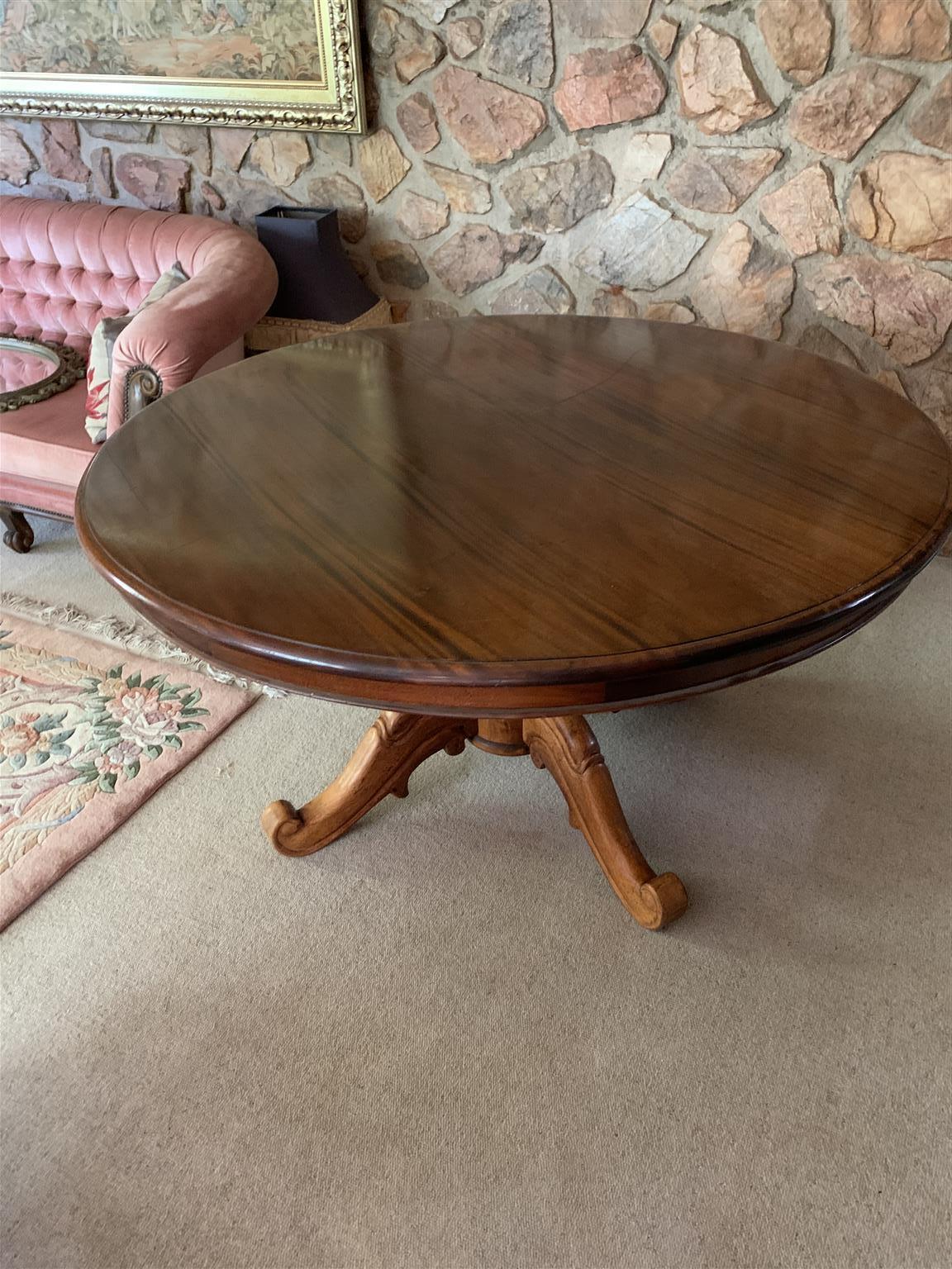 Round Emboya Wood Table