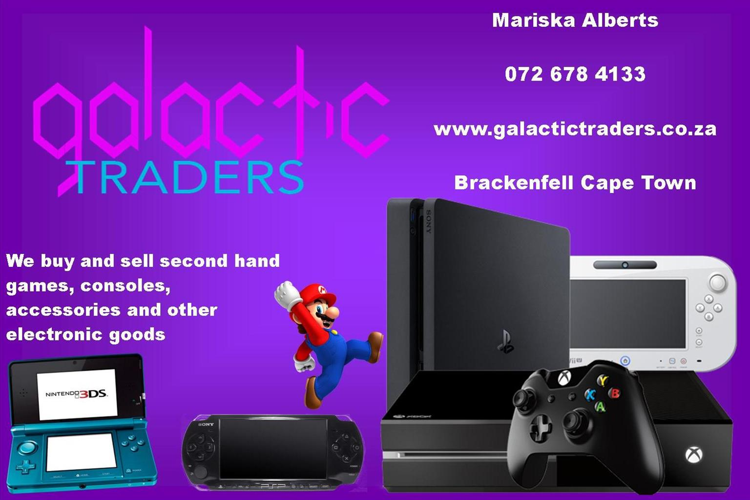 We sell and trade Xbox, Playstation, Nintendo games, consoles and acc