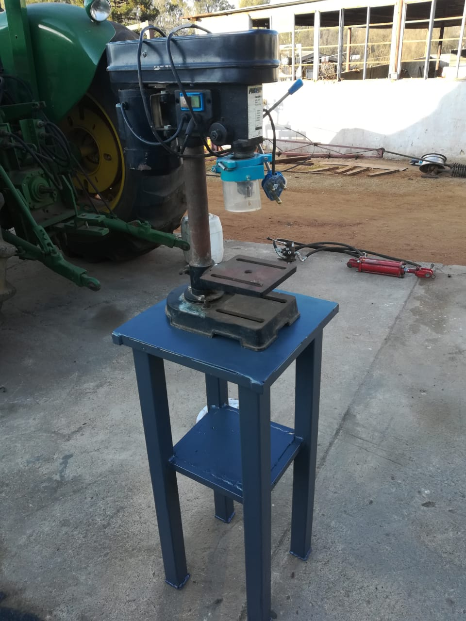 bench drill on table