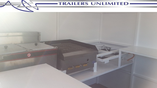 TRAILERS UNLIMITED KIOSK TRAILERS WITH EQUIPMENT.