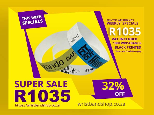1000 Printed Tyvek Special Wristbands Pack