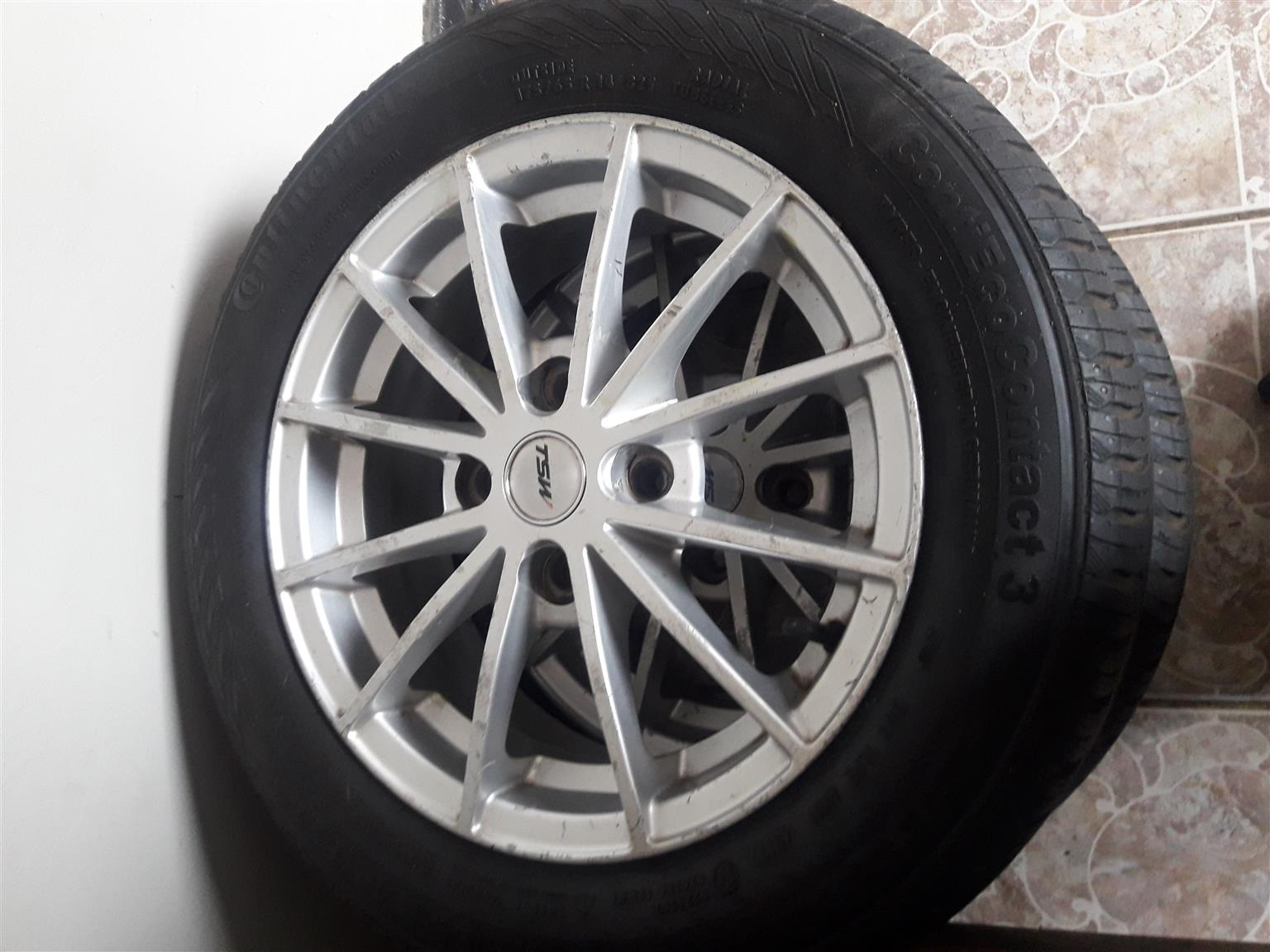 14 inch continental tyres with mags