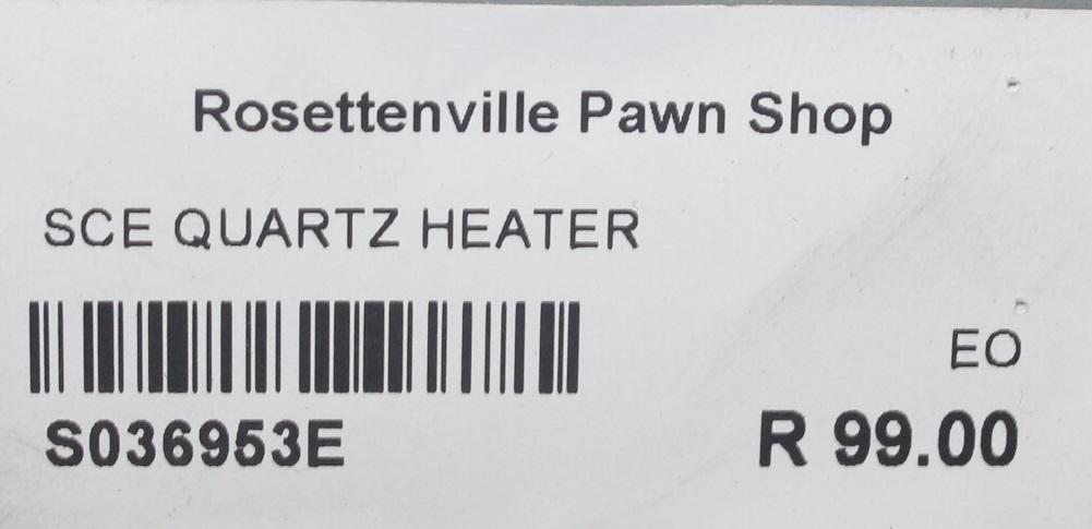 Sce quartz heater S036953E #Rosettenvillepawnshop