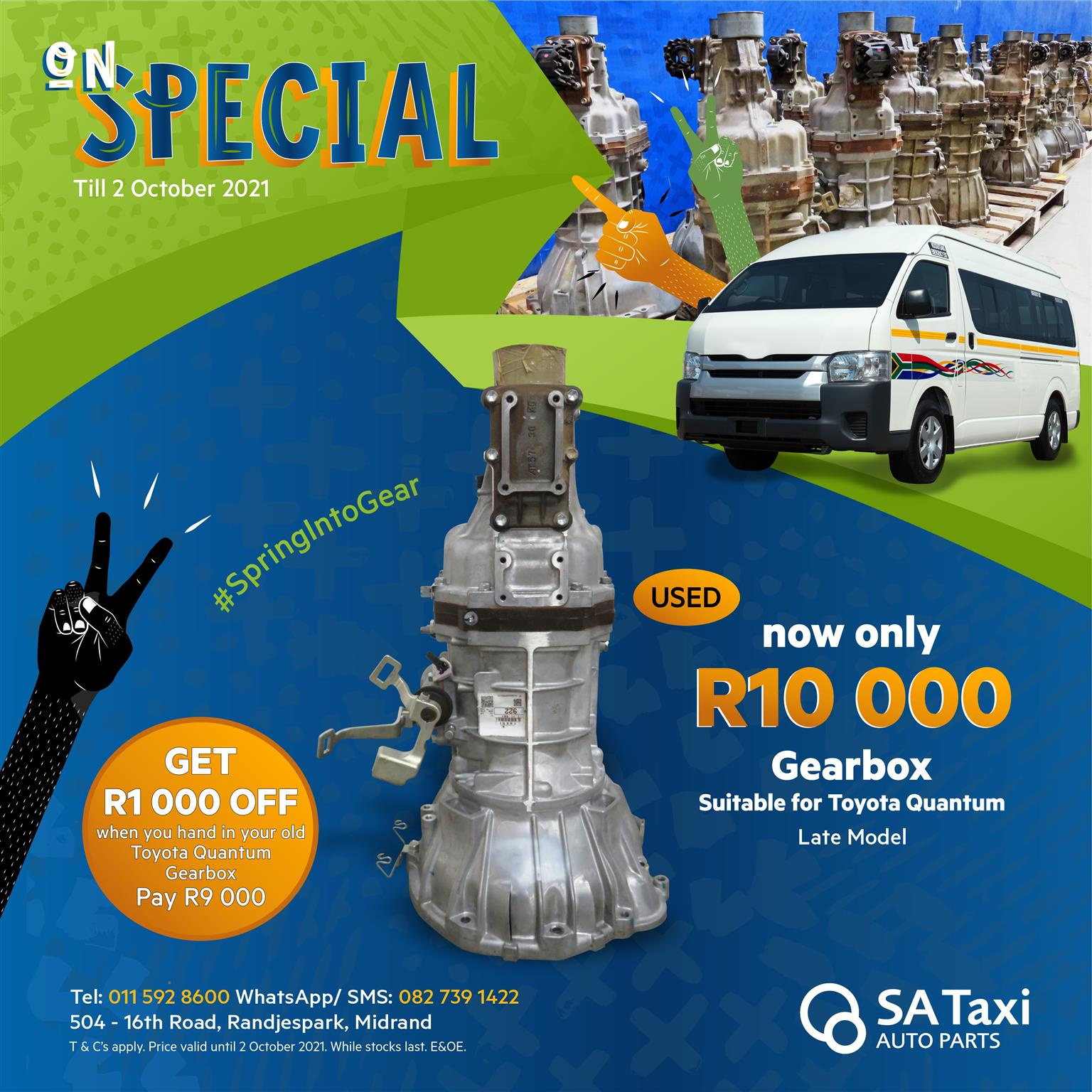 Quality Used Gearbox for Toyota Quantum | On Special until 2 October 2021