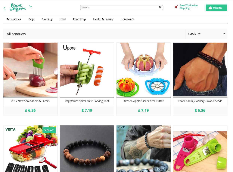 Online store: Love Vegan | All Things Vegan | 100+ Products