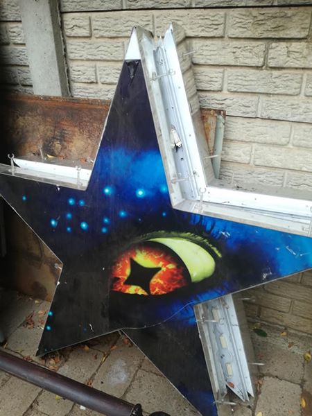 Star shaped sign light for sale