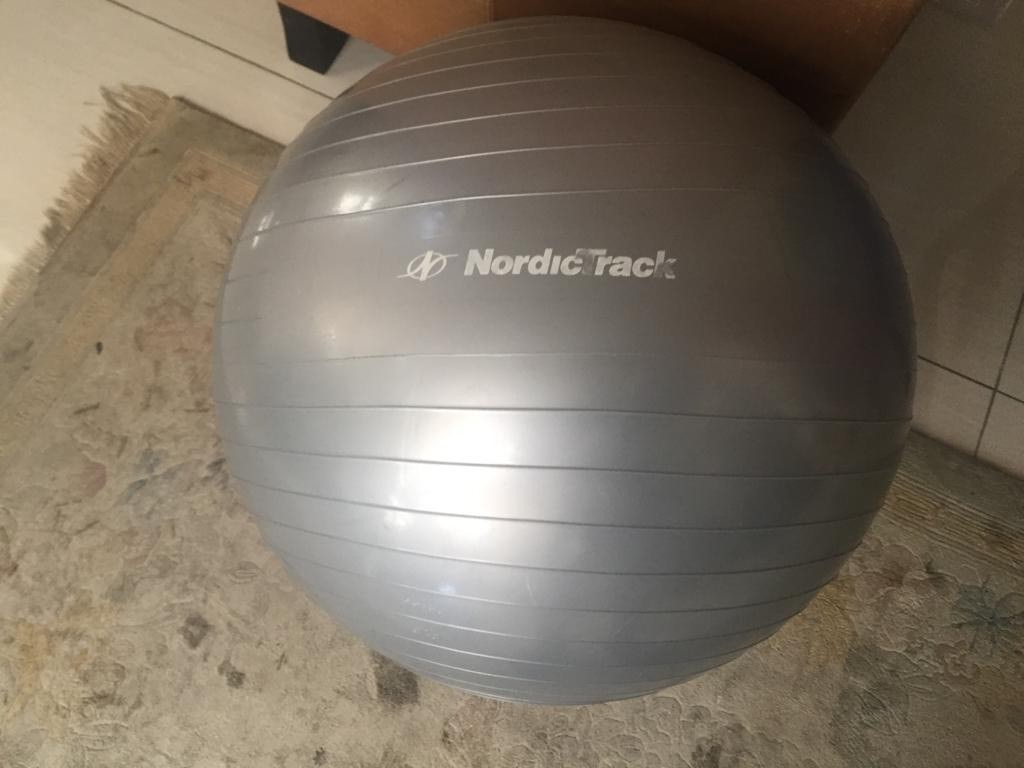 Nordic track Excercise/pilates/yoga Ball 55cm in silver/grey colour finish