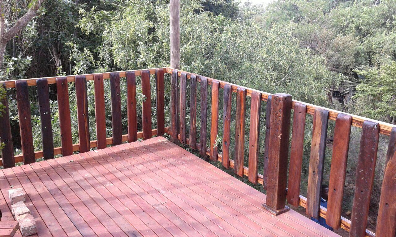 Sleeper patio deck