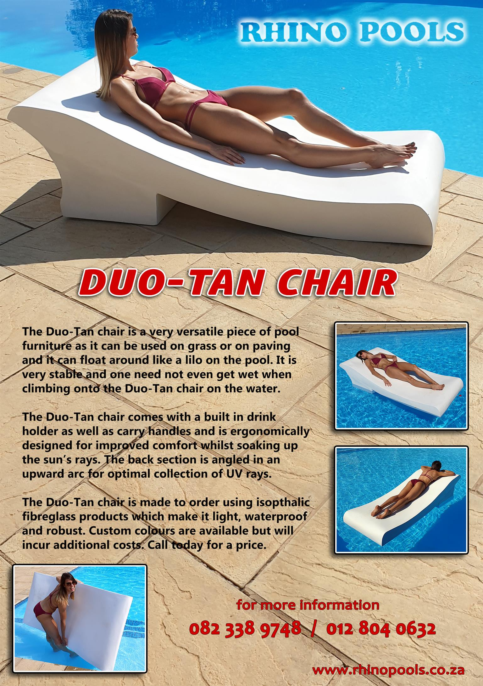 The Duo-Tan poolside/patio tanning chair