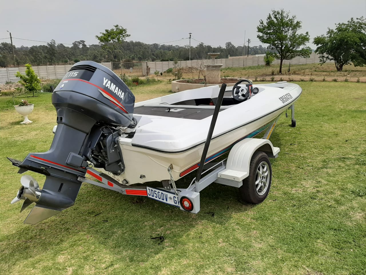 Bass Streaker 5.1 meter boat with Yamaha 115