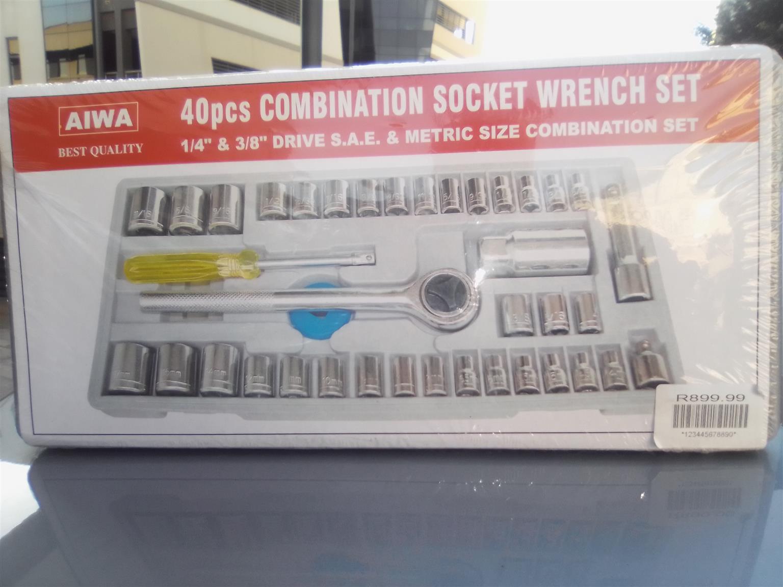 40pcs Combination socket wrench set.AIWA brand