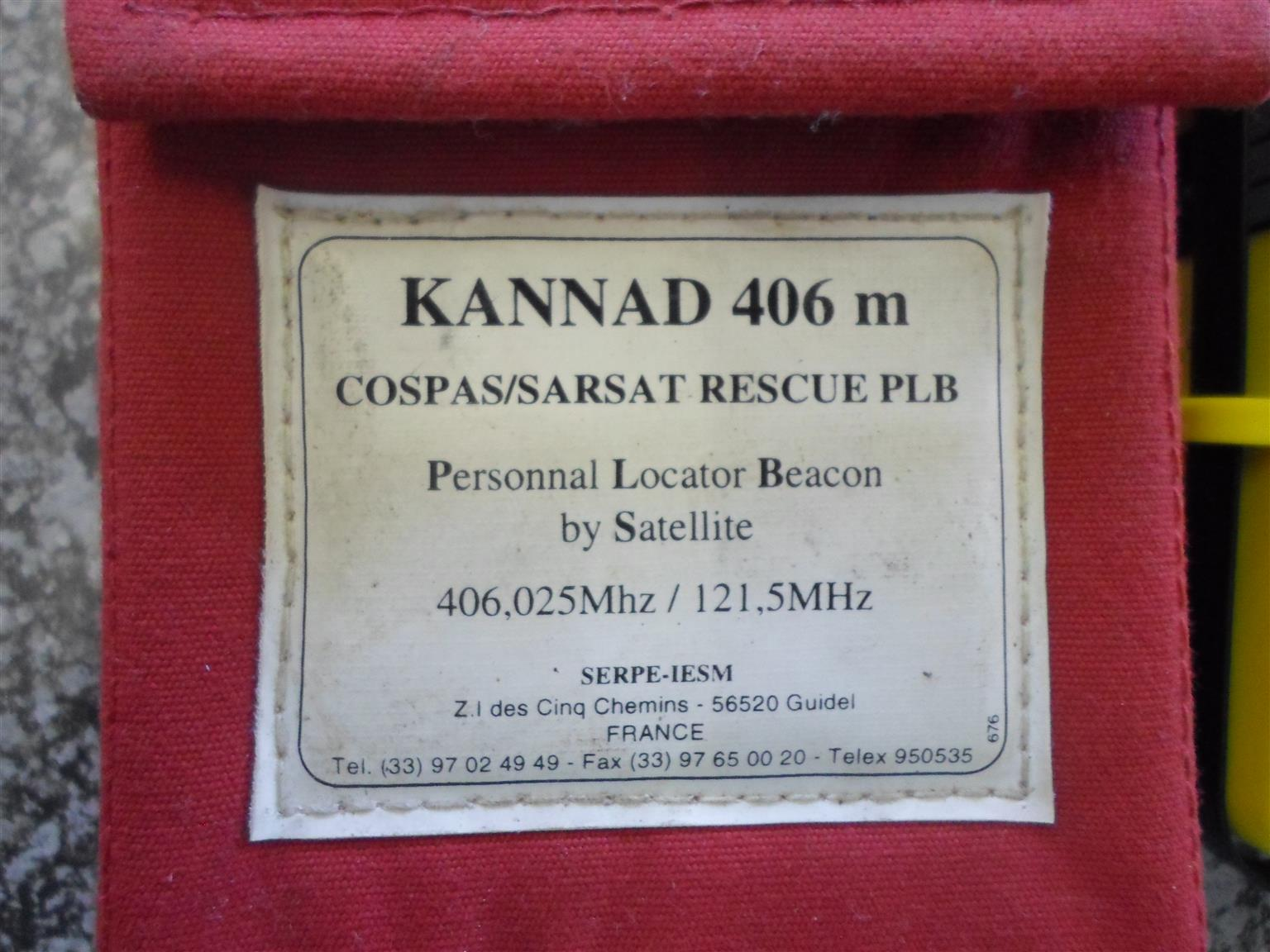 Kannad 406m Personnal Locator Beacon by Sattelite