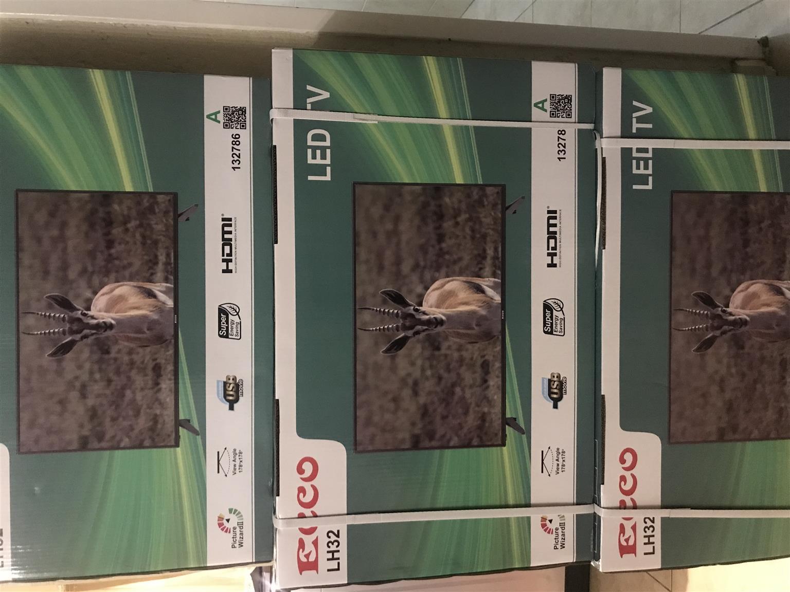 """Brand New 32"""" Ecco tvs"""