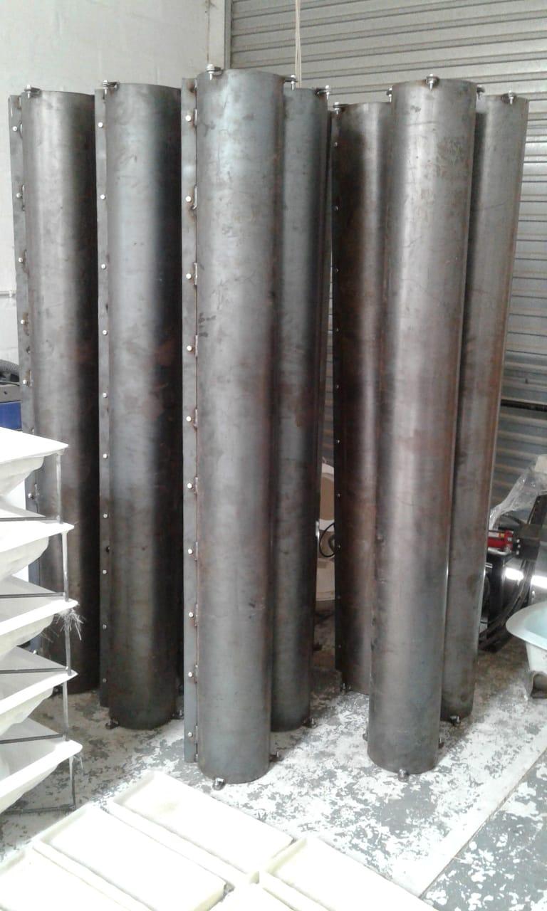 Steel pillar mould