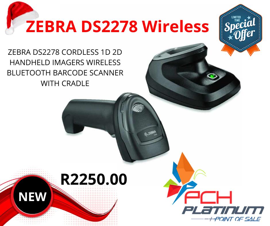 ZEBRA DS2278 CORDLESS Handheld Scanner