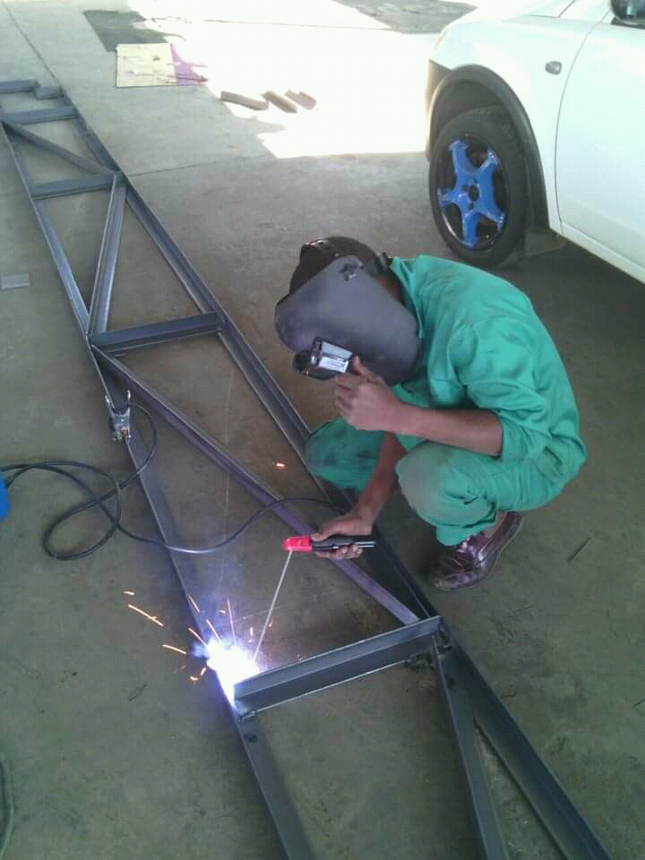 All steel works, Steel Roof Structures, Palisade Fence, Hand Railings,  Carport