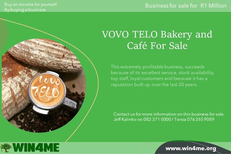 VOVO TELO Bakery and Café For Sale
